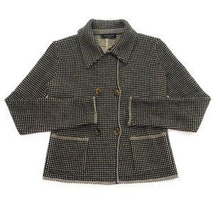 Piazza Sempione Wool Knit Jacket-Style Sweater